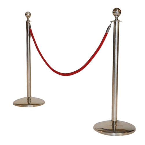 Chrome-Stanchion-Red-Rope
