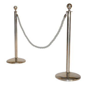 Chrome-Stanchion-White-Rope