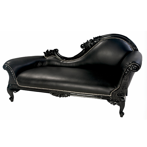 French-Chaise—Black
