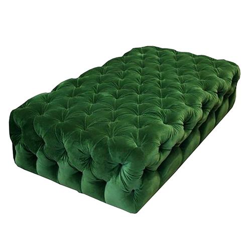 French-Rectangular-Ottoman—Emerald-Green