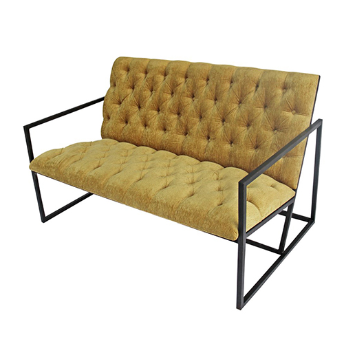 Madrid-Double-Seater-Couch—Mustard