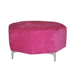 Octagon-Ottoman—Cerise-Pink