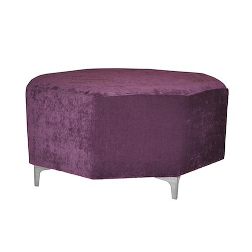 Octagon-Ottoman—Purple