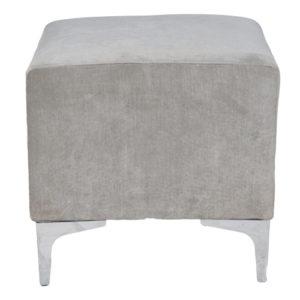 Single-Seater-Square-Ottoman—Grey