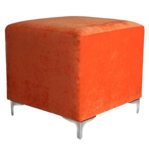 Single-Seater-Square-Ottoman–Orange