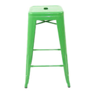 Tolix-Barstool-No-Back—Green