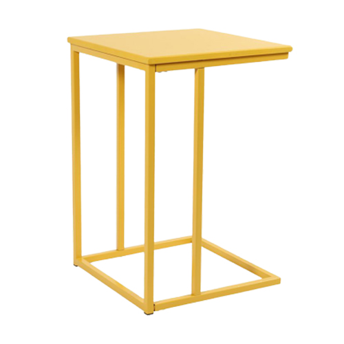 U-Shape-Side-Table—Yellow